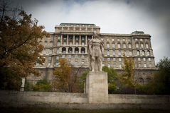 Statue in front of the Buda Castle in Budapest Royalty Free Stock Photography