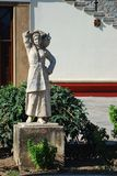 Statue in front of the church in the city of Kos Stock Photos