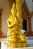 The statue in front of the church. At thai temple Royalty Free Stock Photo