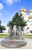 Statue in front of Church in Yarosavll, Russia Royalty Free Stock Photos