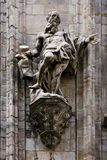 a statue in the front of duomo Royalty Free Stock Photography