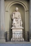 Statue in the front of Florence Cathedral Stock Photos