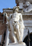 Statue in front of the gates of Arsenal, Venice, Italy Royalty Free Stock Image
