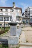 Statue in front of the Parador de Ferrol, Galicia, Spain Stock Image