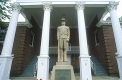 Statue in front of Petersburg Courthouse on US Route 55, Petersburg, VA Royalty Free Stock Images
