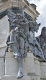 Statue in front of the Salzburg Dom, Austria. stock photo