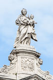 Statue in front of Santa Maria Maggiore. Royalty Free Stock Photo
