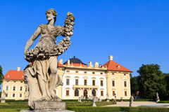 Statue in front of Slavkov Castle Stock Photo