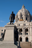 Statue in front of the State Capitol Building Royalty Free Stock Photo