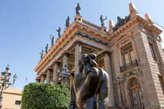 Statue in front of teatro Juarez in Guanajuato city,Mexico Stock Photography