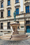 Statue in front of the university, Wroclaw, Poland Royalty Free Stock Photography