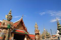 Statue géante dans le temple Photo libre de droits