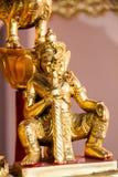 Statue géante dans le temple vert Thaïlande Photographie stock