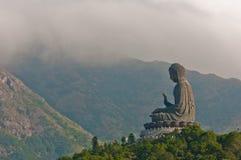 Statue géante de Bouddha en île de Lantau, Hong Kong Images stock