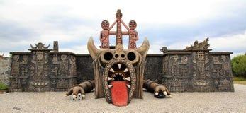 Statue géante de dragon photographie stock libre de droits