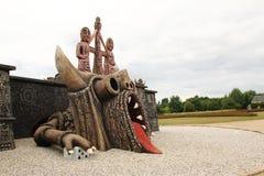 Statue géante de dragon image libre de droits