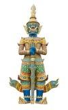 Statue géante de gardien en Wat Phra Kaew Grand Palace Bangkok Photos libres de droits