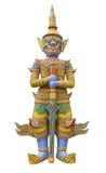 Statue géante de gardien en Wat Phra Kaew Grand Palace Bangkok Photo libre de droits