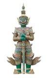 Statue géante de gardien en Wat Phra Kaew Grand Palace Bangkok Photo stock