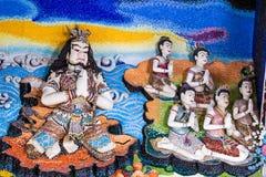 Statue géante de littérature thaïlandaise à décorer sur l'église bouddhiste photographie stock