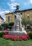 Statue of Gabriele Rosa. Iseo BS, ITALY - July 24, 2018 stock image