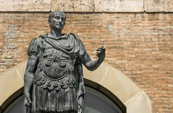 Statue of Gaius Julius Caesar in Rimini, Italy. Detail of the statue of Gaius Julius Caesar in Rimini, Italy Stock Photography