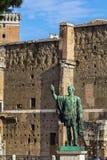 Statue of Gaius Julius Caesar, Rome Stock Images
