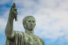 Statue of Gaius Julius Caesar in Rome Stock Photo