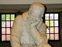 Statue of Galileo Galilei in the Queen`s University, Belfast, No Royalty Free Stock Images