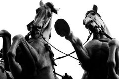 Statue of galloping horses Stock Photos