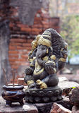 Statue of Ganesh in Ayutthaya, Thailand Stock Photo