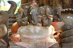 Statue of Ganesha. India. Statue black, ganesha god, india south, hinduism religion, ganapati god, decoration temple, art sculpture, traditional, success symbol Stock Photos