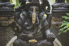 Statue ganesha island bali peace royalty free stock photos