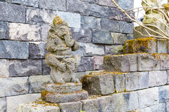 Statue of ganesha and temple wall, Asia Royalty Free Stock Photography