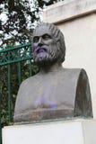 Statue in Garden - Athens, Greece. Statue in Green Garden - Athens, Greece Stock Photos