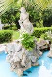 Statue in Garden - Athens, Greece. Statue in Green Garden - Athens, Greece Royalty Free Stock Photo