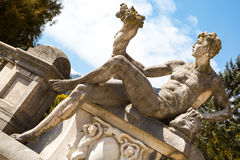 Statue in the garden of Peles Castle, Romania Stock Photo