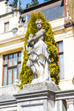 Statue in the garden of Peles Castle, Romania Royalty Free Stock Images