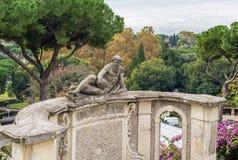 Statue in garden of Villa Celimontana, Rome Stock Image