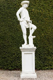 Statue of gardener in Glamis Royalty Free Stock Images