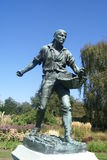 Statue of a gardener man Royalty Free Stock Photography