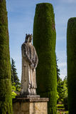Statue from The Gardens of the Alcazar in Cordoba Royalty Free Stock Photos