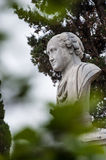 Statue in the gardens gleeful in Pesaro Stock Photos