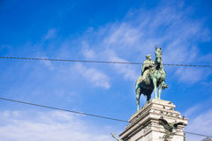 Statue of Garibaldi on horse in Milan Royalty Free Stock Photo