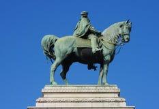 Garibaldi statue in Milan, Lombardy, Italy. stock photos