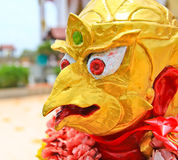 The statue of Garuda; animal in Thai fairy tale. Garuda; animal in Thai fairy tale at Buddhist temple Stock Images