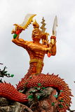 Statue garuda in front of Arch at Wat Khao Bang Haei Chumphon Srimaram ,Thep Sathit District, Chaiyaphum , Thailand Stock Photography