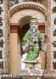 Statue at gate to Buddhist Vinh Trang Pagoda, Vietnam. Royalty Free Stock Photos