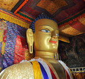 Statue of Gautama Buddha at Shey Monastery near Leh, Ladakh Royalty Free Stock Photos