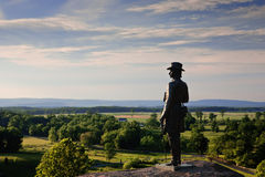 Statue of Gen. Warren at Gettysburg. The statue of Gen. Governeur Warren at Little Round Top, Gettysburg Battlefield Stock Images